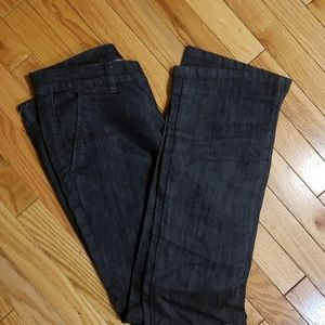 New york and company dark blue demin trousers